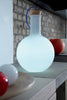Labware round white glass table floor lamp