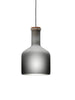 Labware grey glass pendant lamp limited edition