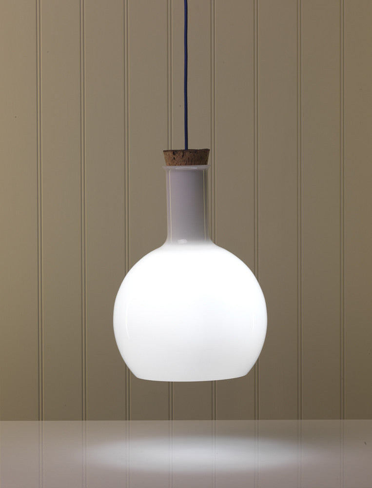 Labware glass round  pendant lamp by Benjamin Hubert