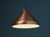 Handle H33 copper anodised aluminium pendant lamp