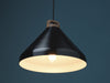 Handle H33 black anodised aluminium pendant lamp