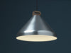 Handle H33 silver anodised aluminium pendant lamp