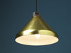 Handle H33 brass aluminium and wood pendant lamp