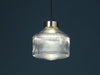 Pharos glass pendant lamp silver top lighthouse fresnel style