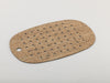 Cork and rubber bath mat with cork veneer