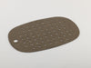 Dark cork and rubber bath mat