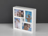 White wood set 5 wall table photo frames