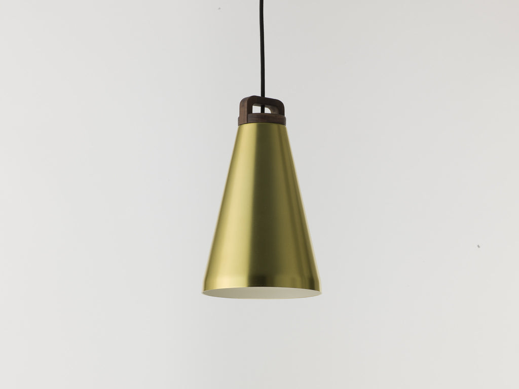 Handle H17 brass anodised aluminium pendant lamp
