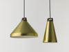 Handle anodised aluminium and walnut wood pendant lamp