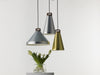 Handle aluminium and wood pendant lamp