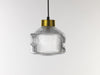 Pharos lighthouse fresnel glass pendant lamp brass cap