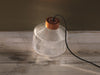 Pharos fresnel glass table floor lamp copper cap