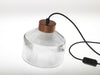 Pharos pressed glass table floor lamp copper cap