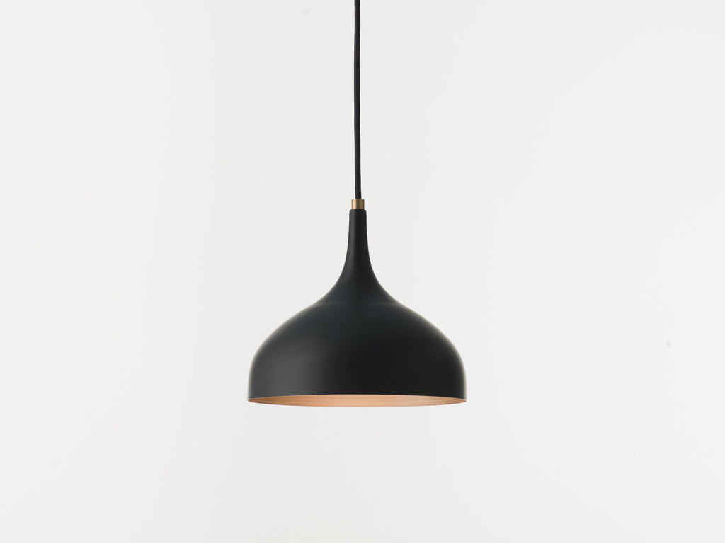 Vienna 21 black varnish and raw copper pendant lamp