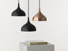 Vienna 21 raw copper and black pendant lamp by Artisans Austria