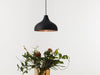 Vienna 30 black varnish raw copper pendant lamp