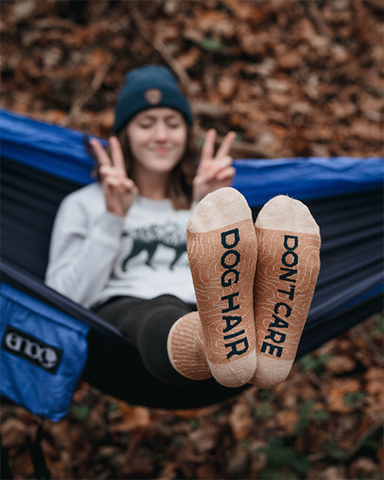 Dog Hair Don't Care Crew Socks