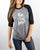 Find Your Wild 3/4 Raglan - Heather Gray/Black