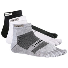 Injinji Run Original Weight Mini Crew Toe Socks