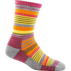 Darn Tough Womens Sierra Stripe Micro Crew Light Cushion Socks