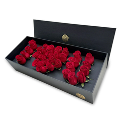 CAJA I LOVE YOU ROSAS ROJAS