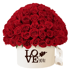 "Caja 160 Rosas Rojas Hongo ""LoVe YoU"""