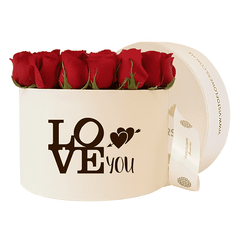 Caja de Rosas Rojas - LOVE YOU
