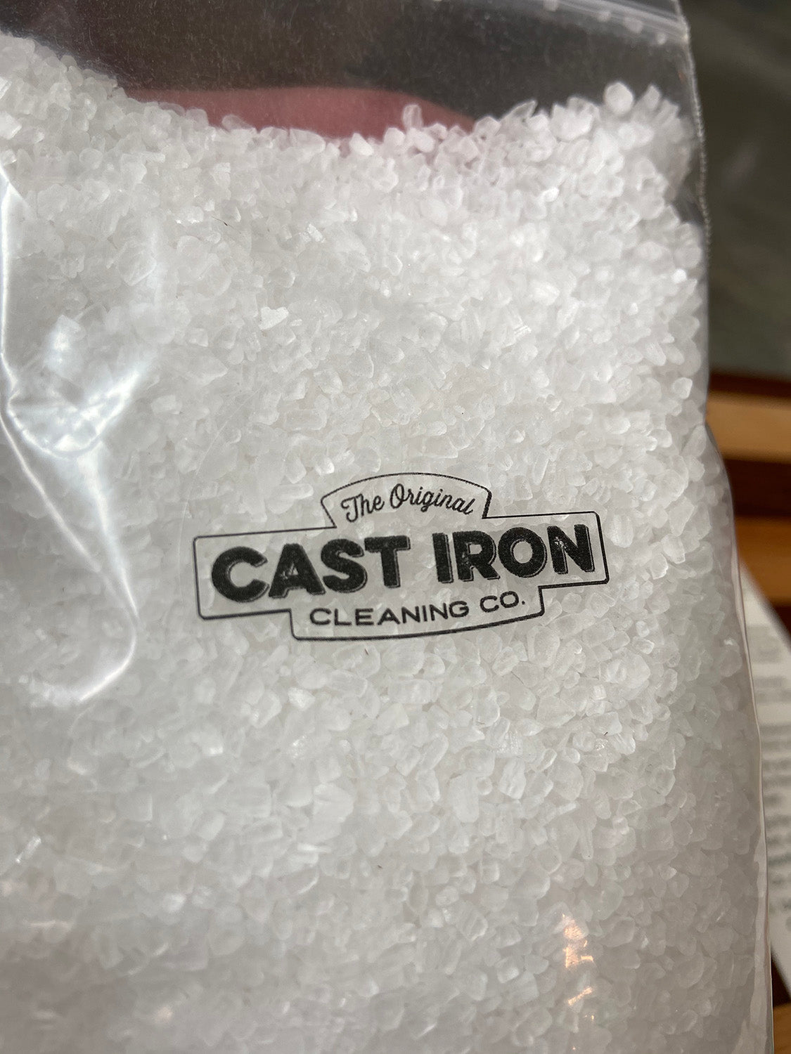 Clean cast iron with salt