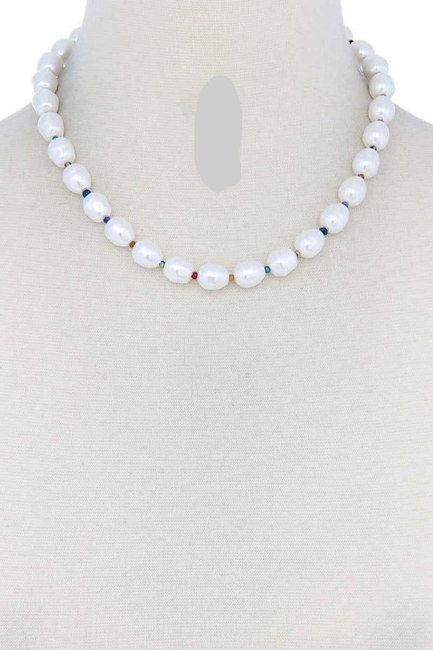 Pearl Bead Necklace - Tigbul's Variety Fashion Shop