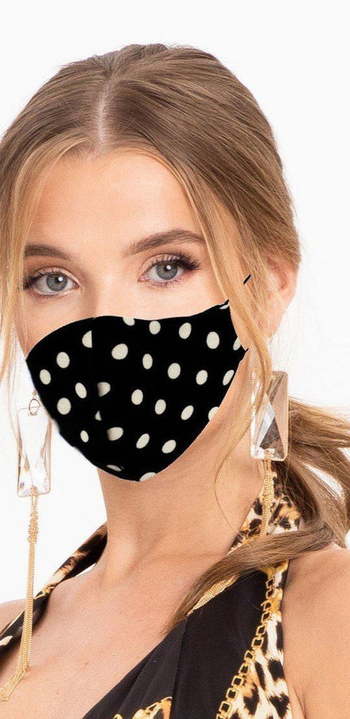 Made In Usa Fashionable 3d Reusable Face Mask, Black/White - Tigbul's Variety Fashion Shop