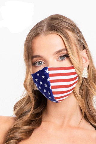 Made In Usa / Fashionable USA Flag 3d Reusable Face Mask