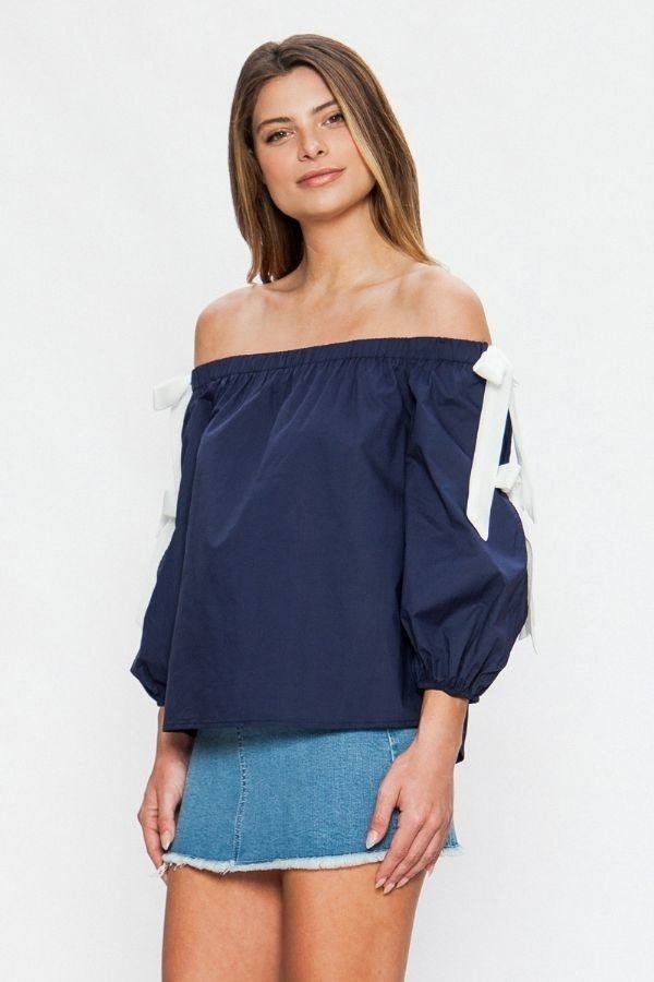 Off-the-shoulder Top - Tigbul's Variety Fashion Shop