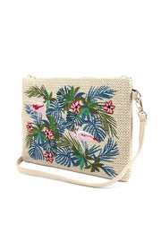 Floral Embroidered Pouch / Handbag - Tigbul's Variety Fashion Shop