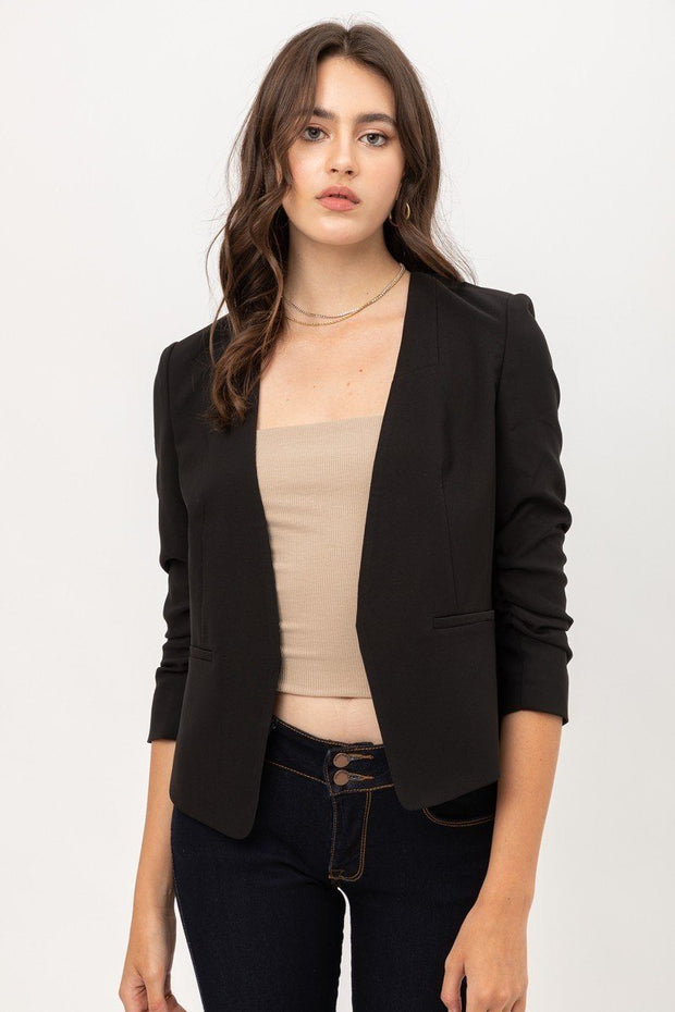 Vertigo Slim Fit Black Blazer - Tigbul's Variety Fashion Shop