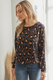 Casual Leopard Print Long Sleeve - Tigbul's Variety Fashion Shop