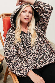 Active Hoodie Windbreaker Leopard Print Anorak - Tigbul's Variety Fashion Shop