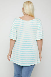 Striped Tunic, Featuring Flattering Flared Sleeve
