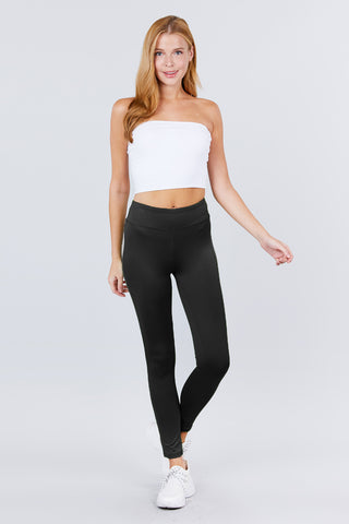 WOMEN'S BLACK WORKOUT / YOGA ANKLE LENGTH PANTS - Tigbul's Variety Fashion