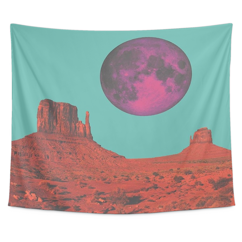 Purple Desert Moon
