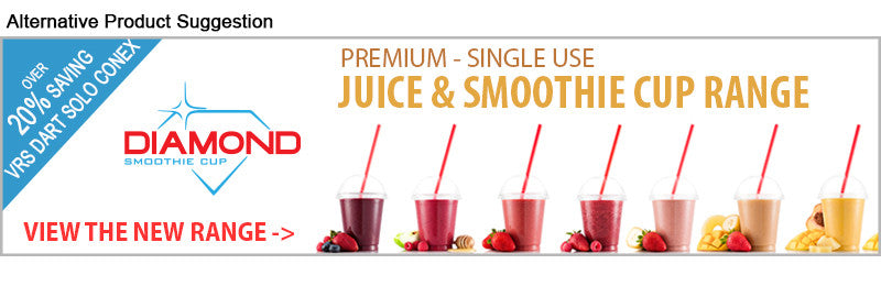 Diamond PET smoothie and Juice Cup Range