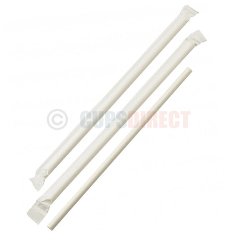 Individually Wrapped White Paper Straws 6mm
