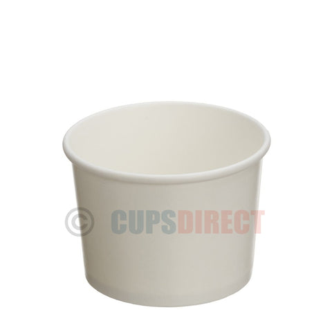12oz White Paper Heavy Duty Soup and Food Containers