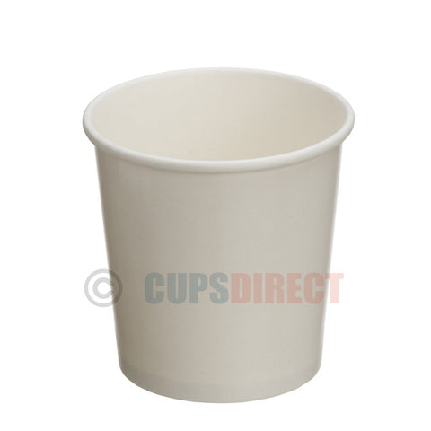 16oz White Paper Heavy Duty Soup and Food Containers