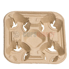 Four Cup Carry Tray Holder