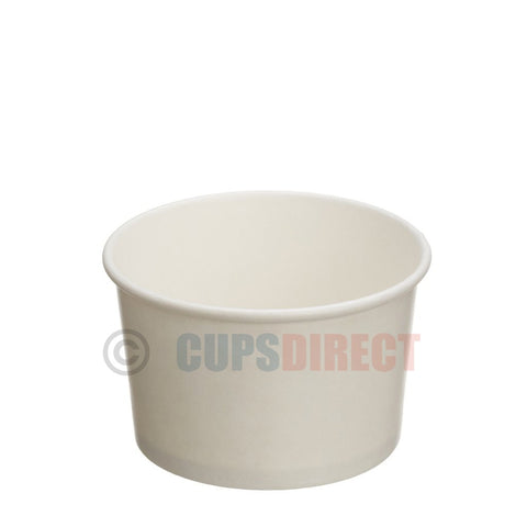 8oz White Paper Heavy Duty Soup and Food Containers