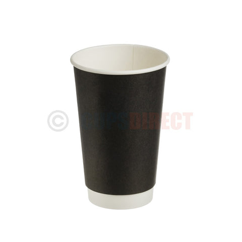 Double Wall Black Paper Hot Cup Range