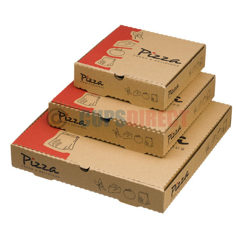 Brown Pizza Box Range - Stock Print