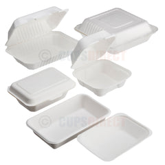 Bagasse Biodegradable Food Trays & Container Range