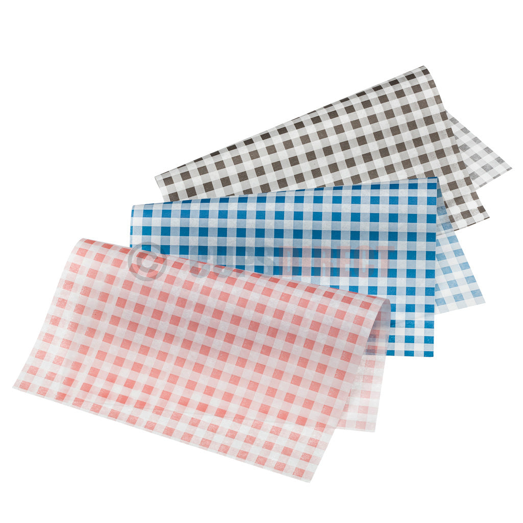 Chequered Gingham Greaseproof Paper Range