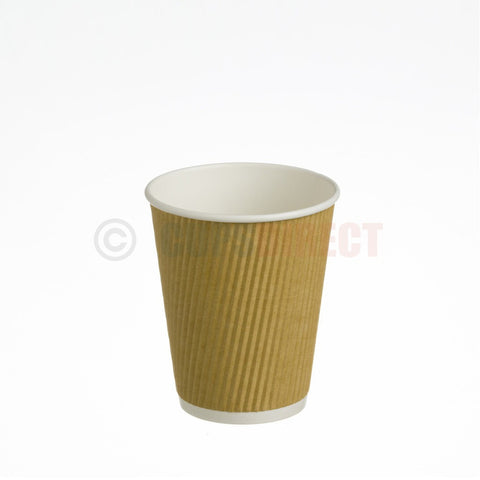 10oz Kraft Ripple Hot Paper Cup